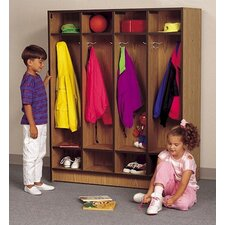 4-Section Double Sided Student Locker