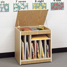 "Mobile Big Book 28"" Storage Rack"