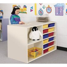 Koala-Tee Double Sided Storage Cabinet with Cubbie Trays