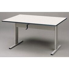 Adjustable Wheelchair Accessible Work Table in Cactus Star