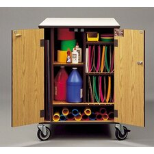 Rolling Arts and Crafts Supply Cabinet