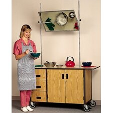 <strong>Fleetwood</strong> Mobile Cooking Demonstration Table with Overhead Mirror and Optional Range