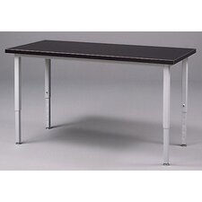 <strong>Fleetwood</strong> Adjustable Height Steel Frame Science Table with Black HPL Top