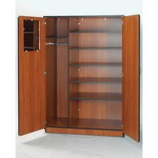 "<strong>Fleetwood</strong> Illusions 72"" H Teacher Wardrobe with Five Adjustable Shelves"