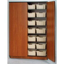 "Illusions 84"" H Tray Cabinet with Seven Adjustable Shelves"