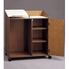 Mobile Podium with Cabinet