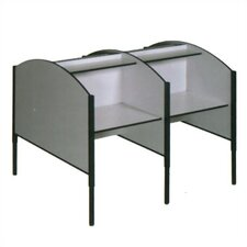 H Double Sided Study Carrel Add On