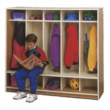 5-Section Cubbie Children's Locker