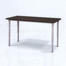 Adjustable Height Steel Frame Science Table with Black Epoxy Resin Top