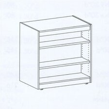 "Library Double-Sided 44.75"" Mobile Bookcase"