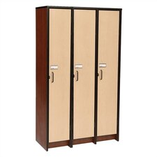 "60"" H Three Unit Laminate Locker"