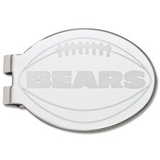 NFL Laser Etched Silver Plated Money Clip