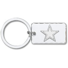 NFL Silvertone Key Chain with Sterling Silver Logo
