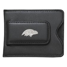 NFL Logo Black Leather Money Clip / Credit Card / ID Holder