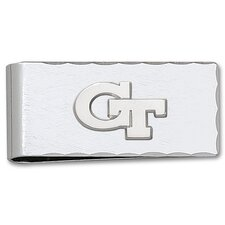 Georgia Tech Silvertone Logo Money Clip