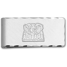 NCAA Silvertone Logo Money Clip