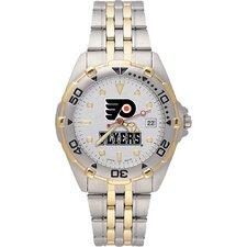 NHL Men's All Star Bracelet Watch with Team Logo Dial