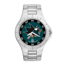 NHL Men's Pro II Bracelet Watch with Full Color Team Logo Dial