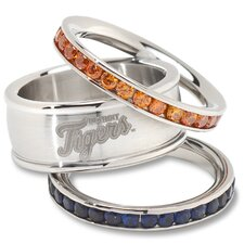 MLB Logo Crystal Stacked Ring Set