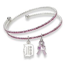 <strong>LogoArt®</strong> MLB 2013 Breast Cancer Awareness Support Charm Bracelet