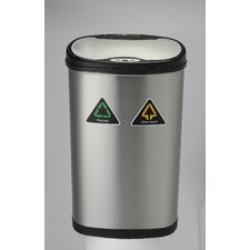 13.2 Gallon Motion Sensor Recycle Trash Can