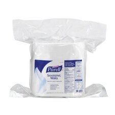Pre-moistened Sanitizing Wipe in White