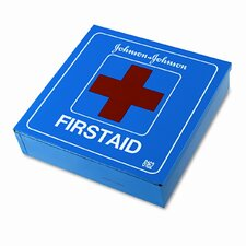<strong>BAND-AID</strong> Johnson and Johnson Red Cross Industrial First Aid Kit for 50 People, 225 Pieces