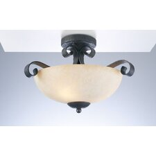 <strong>PLC Lighting</strong> Somerset Semi Flush Mount