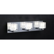 <strong>PLC Lighting</strong> Glacier 3 Light Vanity Light