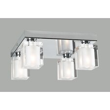 <strong>PLC Lighting</strong> Glacier Semi Flush Mount