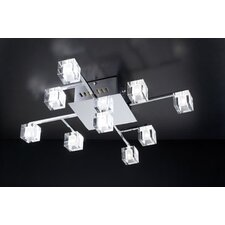 <strong>PLC Lighting</strong> D'oro 9 Light Semi Flush Mount