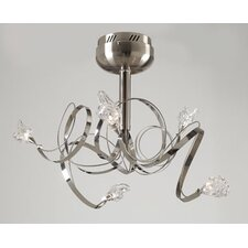 <strong>PLC Lighting</strong> Ribbon 5 Light Semi Flush Mount