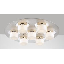 <strong>PLC Lighting</strong> Natalie 7 Light Semi Flush Mount