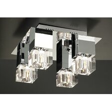 <strong>PLC Lighting</strong> Charme 4 Light Semi Flush Mount