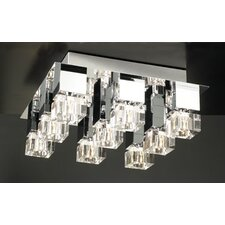 Charme 9 Light Semi Flush Mount
