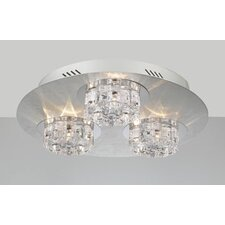Ice Age 9 Light Semi Flush Mount