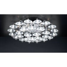 Diamente 12 Light Semi Flush Mount