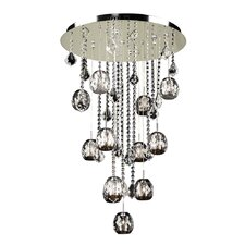 <strong>PLC Lighting</strong> Soleil 12 Light Crystal Chandelier