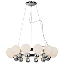 <strong>PLC Lighting</strong> Pluto 12 Light Chandelier