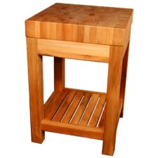 Shiloh Creek Prep Table with Butcher Block Top