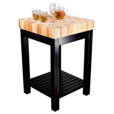 Cornerstone Kitchen Island with Butcher Block Top