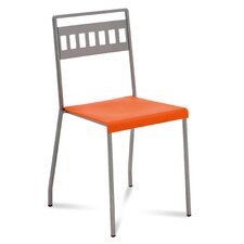 Ray Stacking Chair in Satinated Aluminium