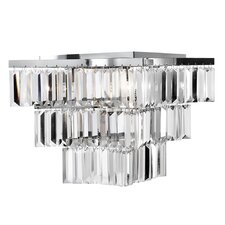 Brianna 4 Light Semi Flush Mount in Chrome