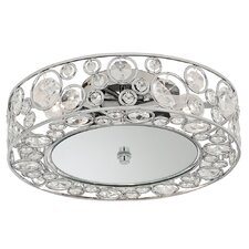 Pumba 3 Light Flush Mount in Chrome