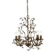 Almandite 5 Light Crystal Chandelier
