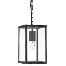Laterns 1 Light Hanging Lantern in Black