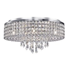 Bohema 6 Light Flush Mount in Chrome