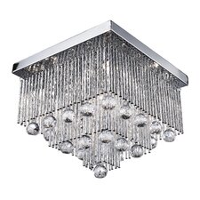 Beate 6 Light Flush Mount in Chrome