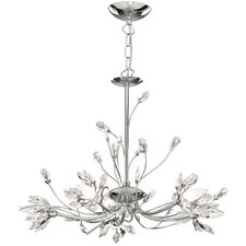 Hibiscus 5 Light Crystal Chandelier