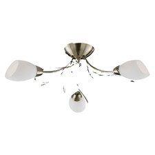 Gardenia 3 Light Semi Flush Mount